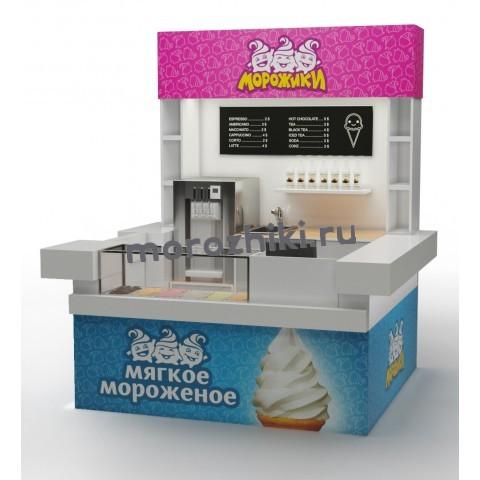 Остров в ТЦ по продаже мягкого мороженого